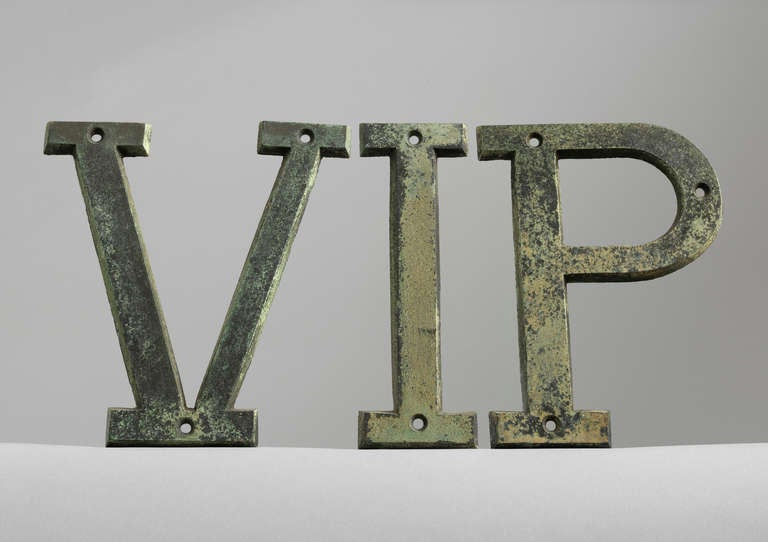 Vintage trade sign letters at 1stdibs for Furniture 5 letters