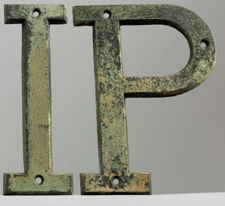 Vintage trade sign letters at 1stdibs for Furniture 5 letters