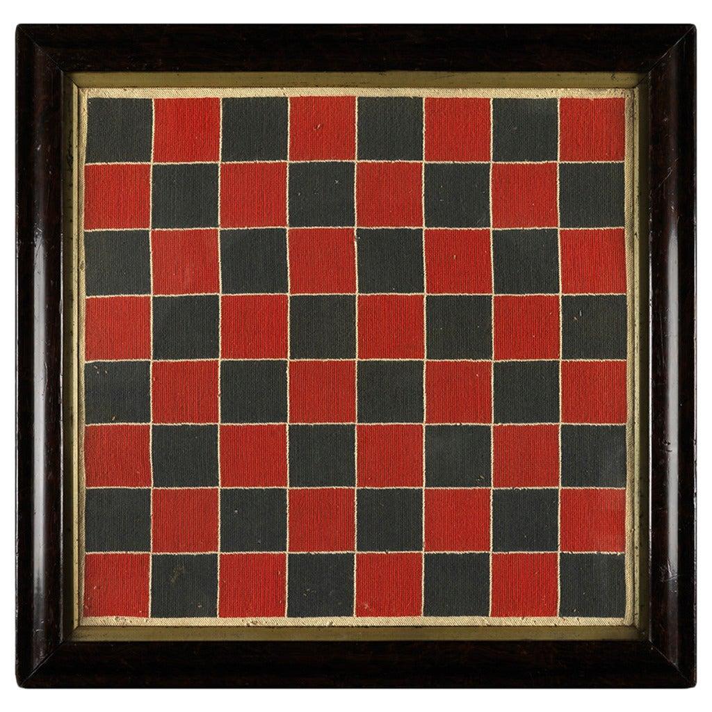 Geometric Folk Art Embroidered Games Board
