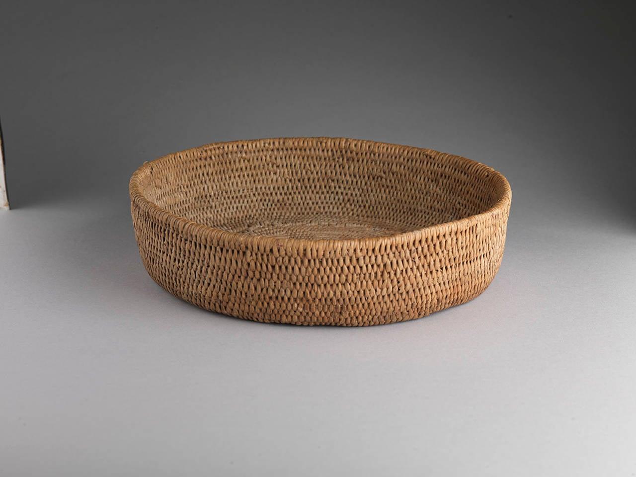 Woven Basket Art : Exemplary folk art woven basket at stdibs