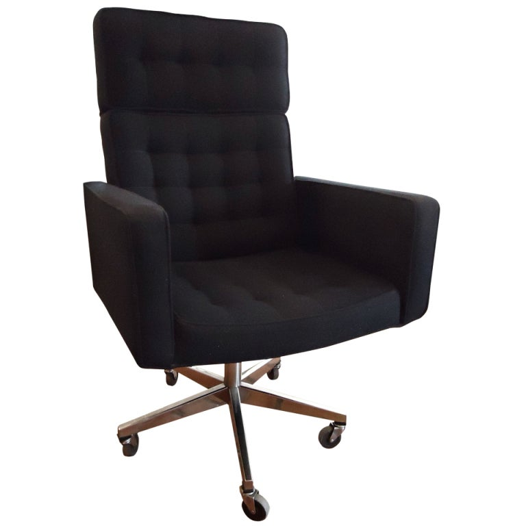 executive office desk chair designed by vincent cafiero for knoll at