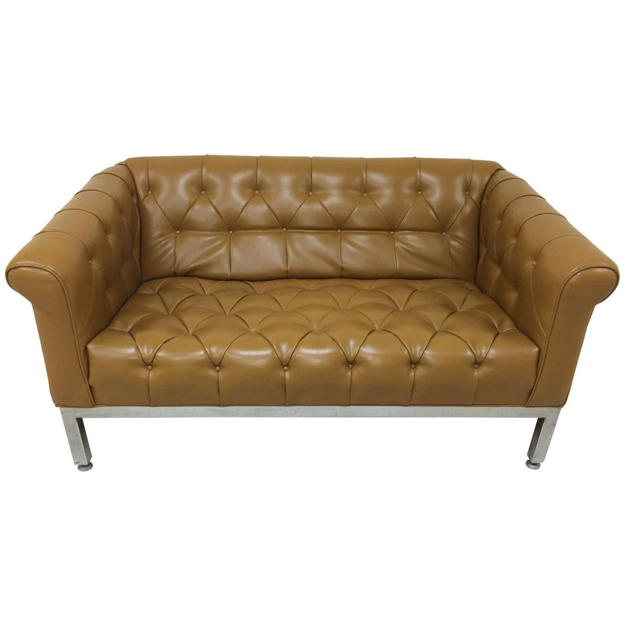 Signed Milo Baughman for Thayer Coggin Tufted Sofa For Sale