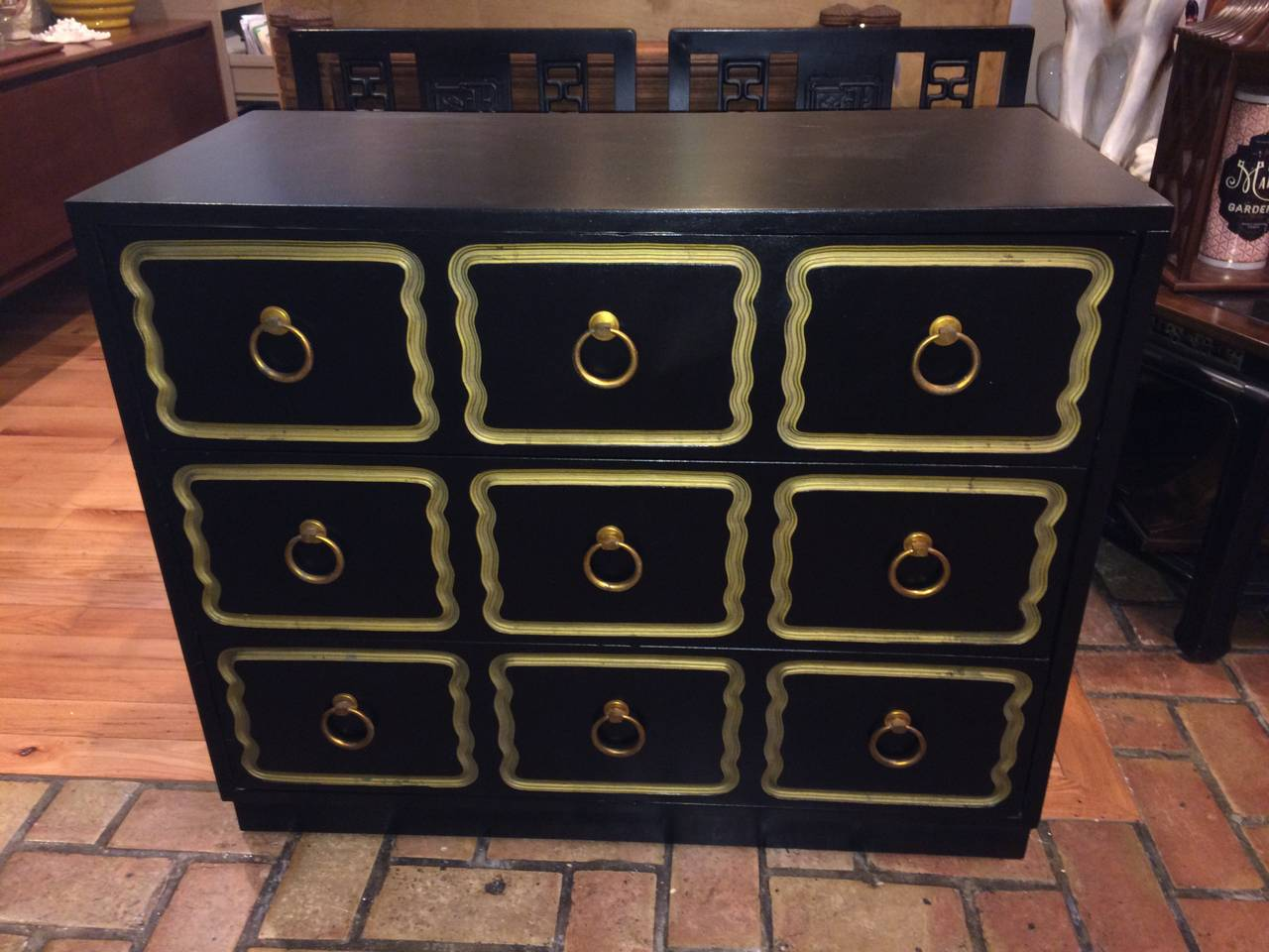 American Dorothy Draper Style Espana Chest of Drawers For Sale