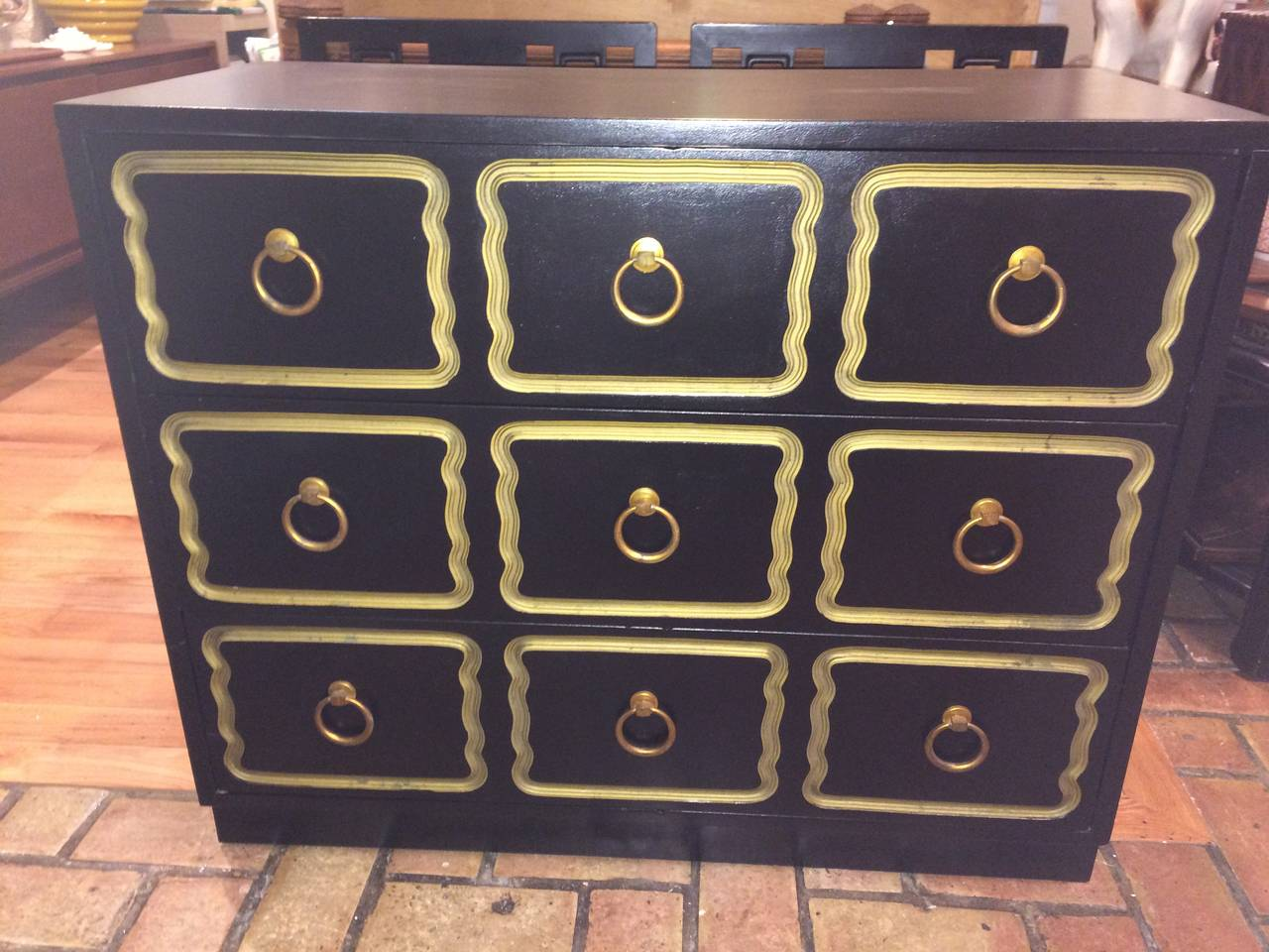 Hollywood Regency Dorothy Draper Style Espana Chest of Drawers For Sale