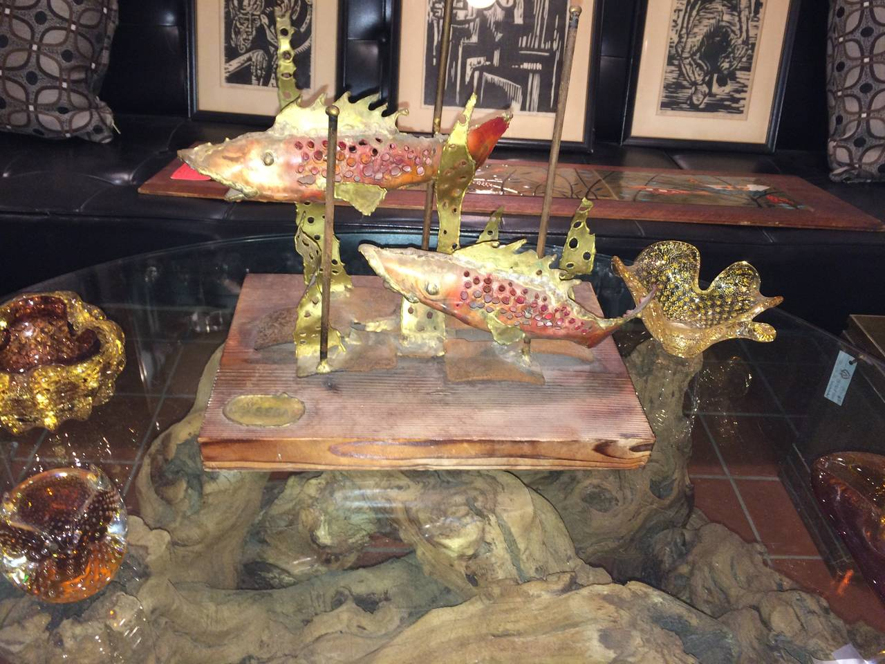Signed Brutalist Sculpture of Fish by Segal For Sale 4