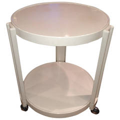 Giotto Stoppino for Kartell  round bar cart/table on wheels