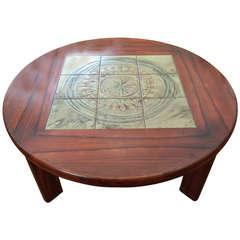Mid Century Danish Round Coffee Table