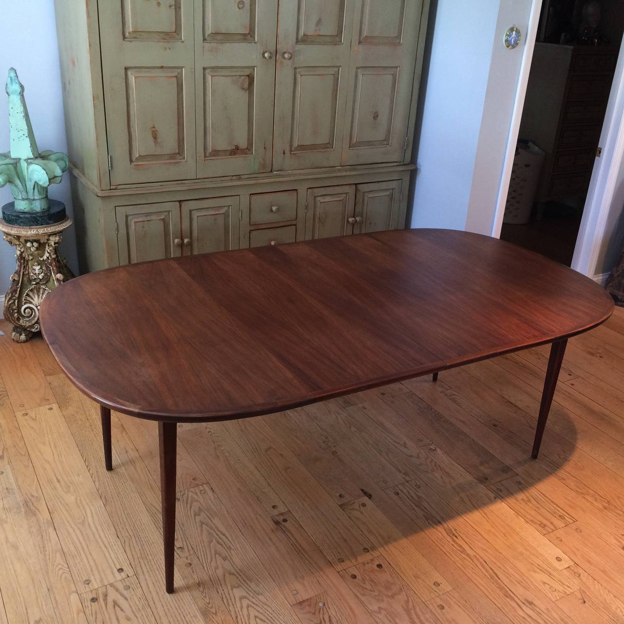 Mid-Century Modern Walnut Dining Set 4