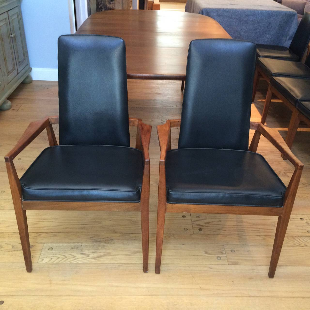 Mid-Century Modern Walnut Dining Set 7