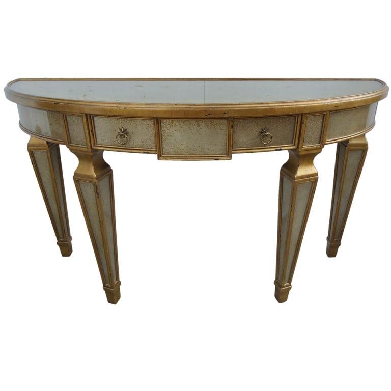 Theodore Alexander Églomisé Demilune Table For Sale at 1stdibs