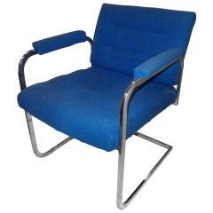 ON SALE- Milo Baughman Style Chrome Armchair