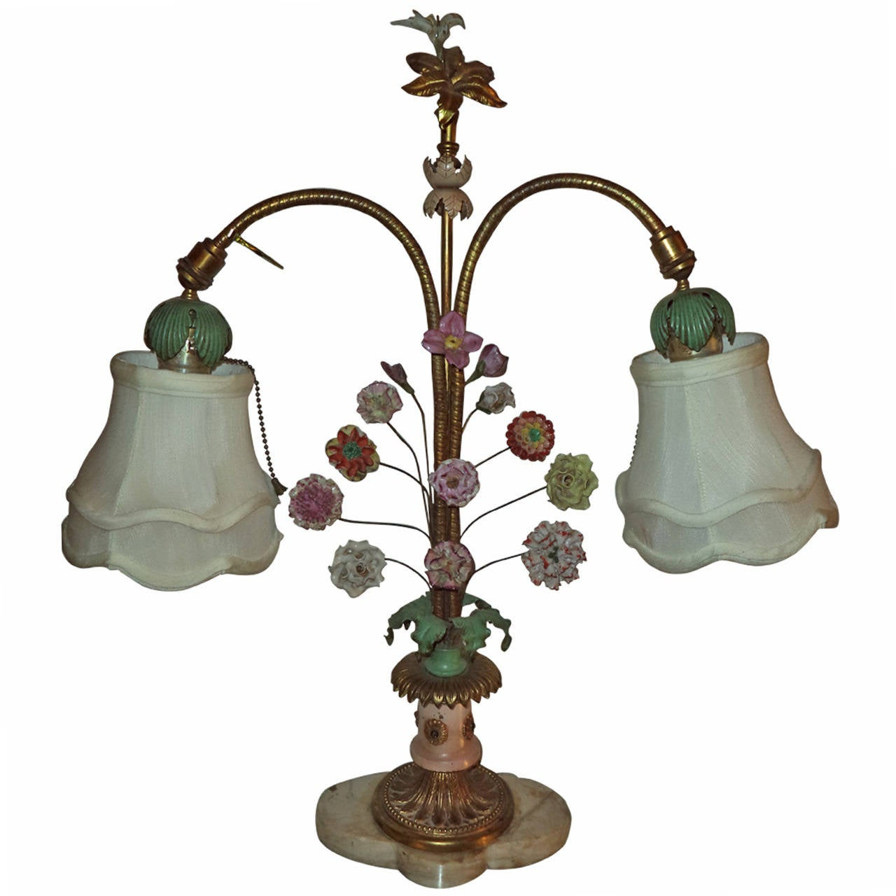 Floral porcelain table lamp for sale at 1stdibs floral porcelain table lamp for sale aloadofball Image collections