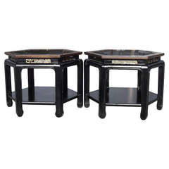 Pair of Chinese Chippendale Tables in the Style of James Mont