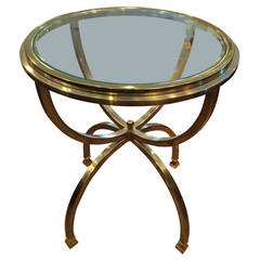 Hollywood Regency Round Side Table