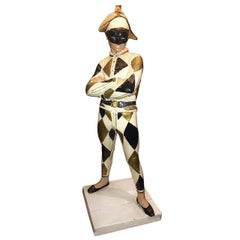 Rare Collectible Marbro Harlequin Jester Table Lamp