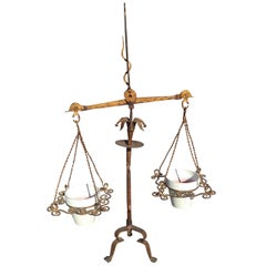 Italian Gilt Iron Scales of Justice Planter