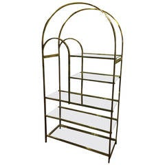 Hollywood Regency Brass Etagere