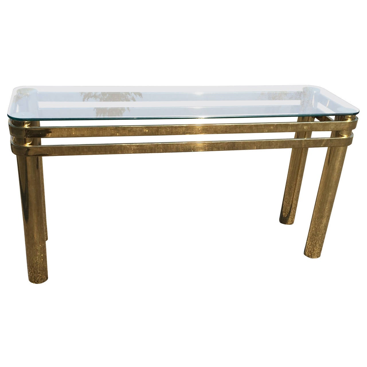 Hollywood Regency Brass Console or Sofa Table by Pace