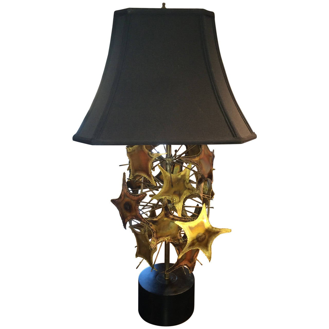 Brutalist Mid-Century Lamp in the Style of Jere