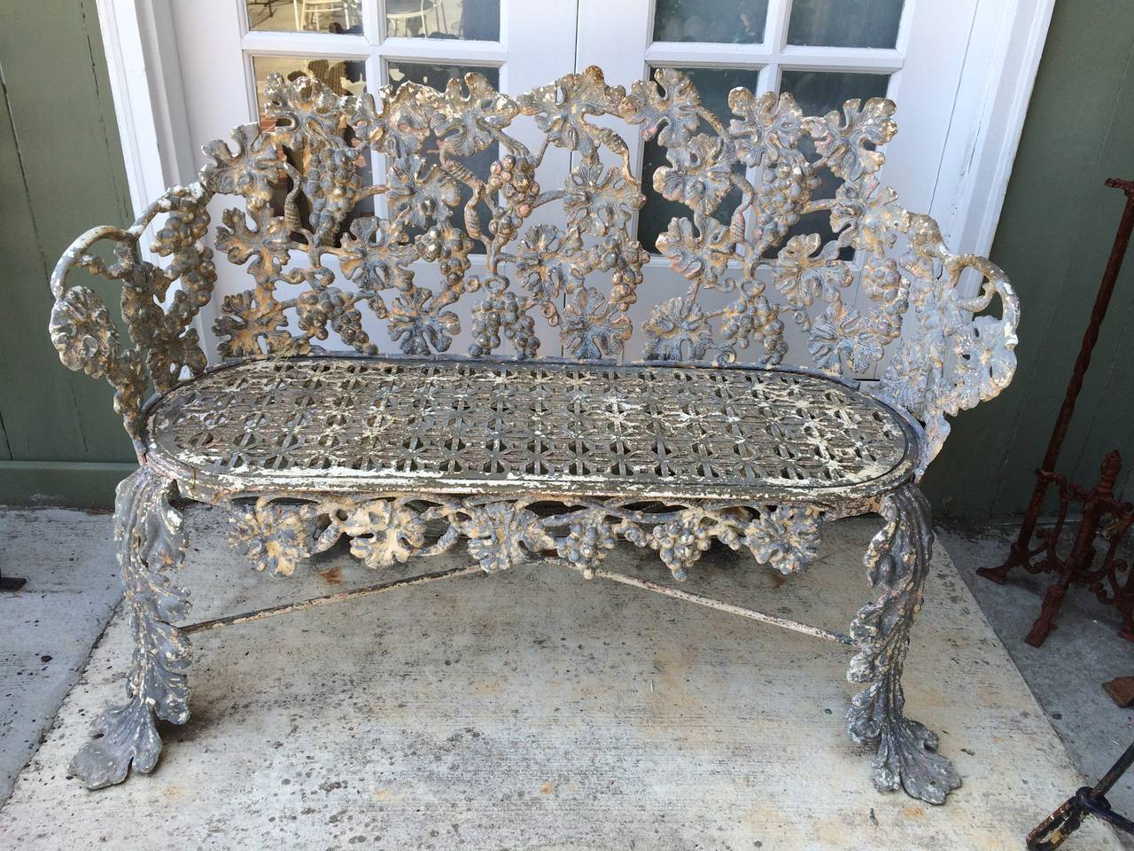 Antique Cast Iron Bench For 2