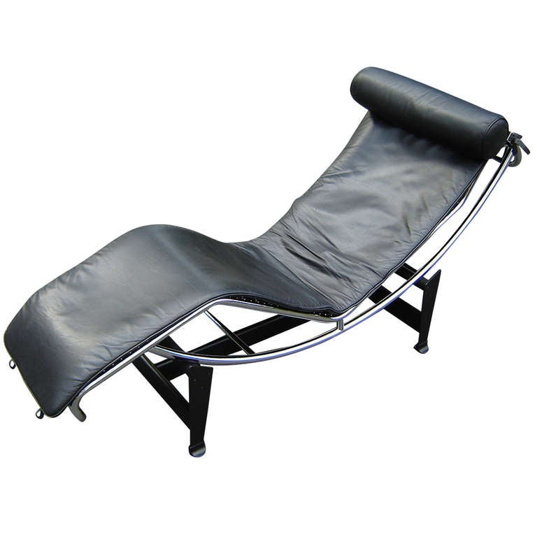 Authentic le corbusier lc 4 chaise by cassina in black for Chaise le corbusier cassina