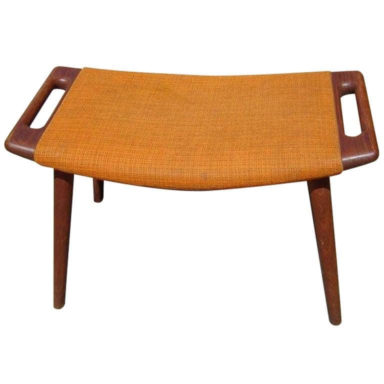 hans wegner papa bear ottoman stool at 1stdibs. Black Bedroom Furniture Sets. Home Design Ideas