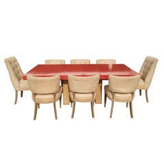Stunning Dining Table with 8 Chairs by Paul Laszlo