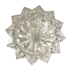 Stunning Faceted Lucite Bowl