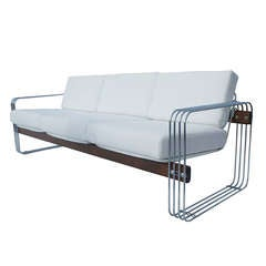 Beautiful Three-Seater Sofa by Stendig