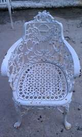 Antique Neoclassical Cast Iron Patio Set image 6