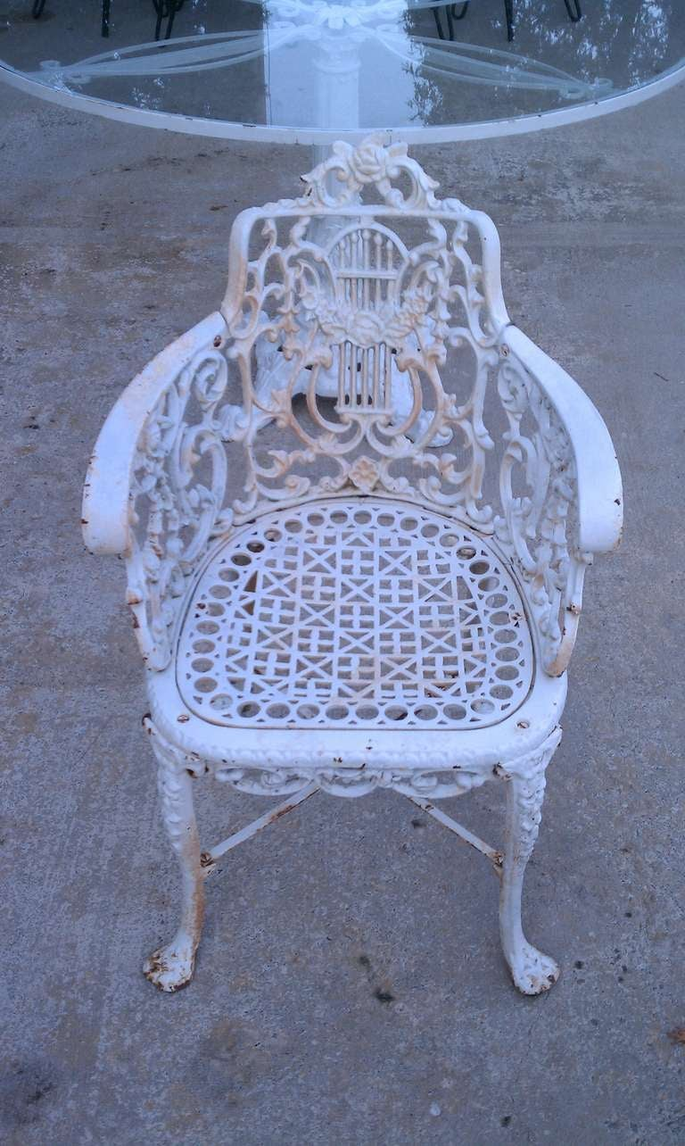 Antique Neoclassical Cast Iron Patio Set At 1stdibs
