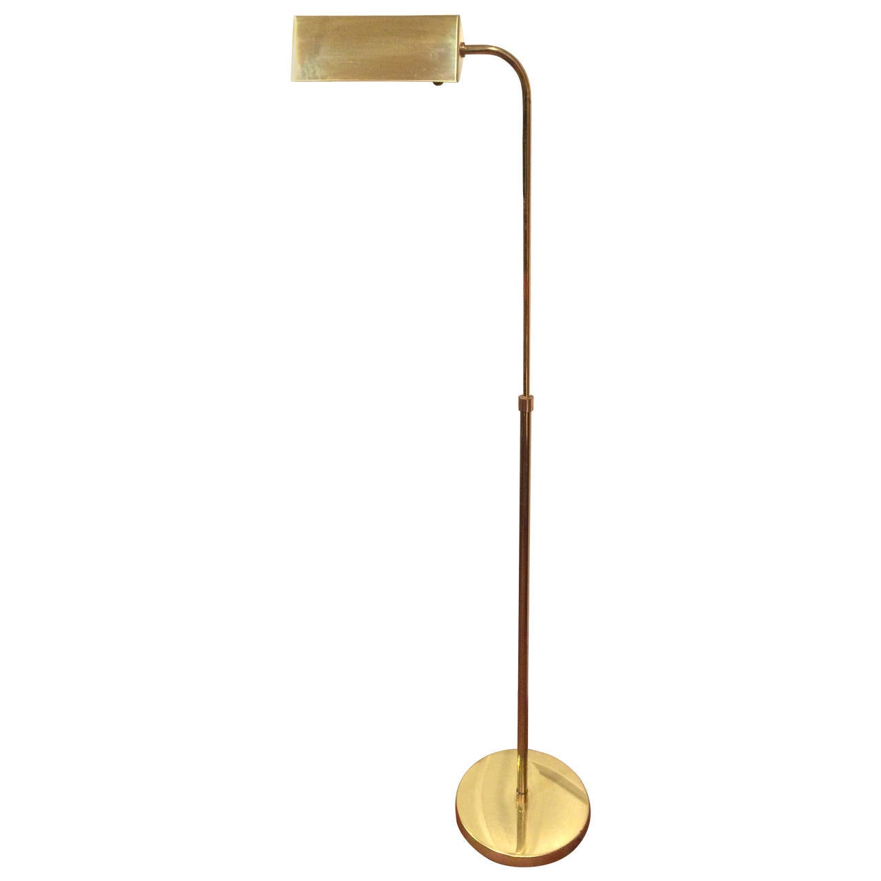 Mid Century Brass Floor Lamp At 1stdibs