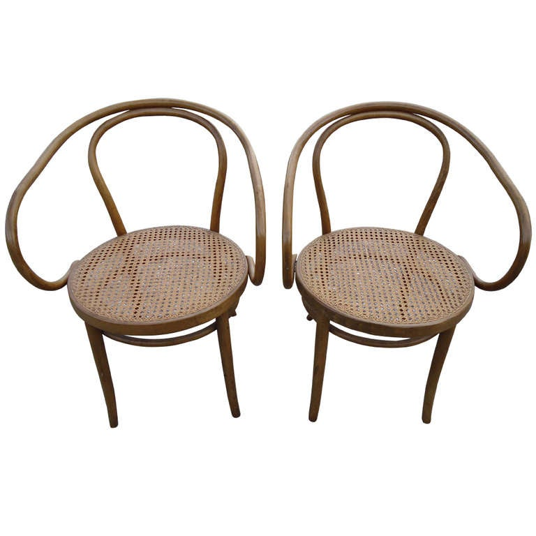 Pair Of Thonet Bentwood Chairs For