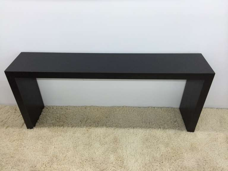 Parsons Sofa Table Matte Black At