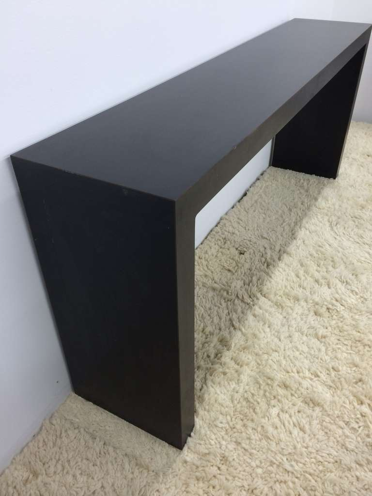 Matte Black Parsons Sofa Table At 1stdibs