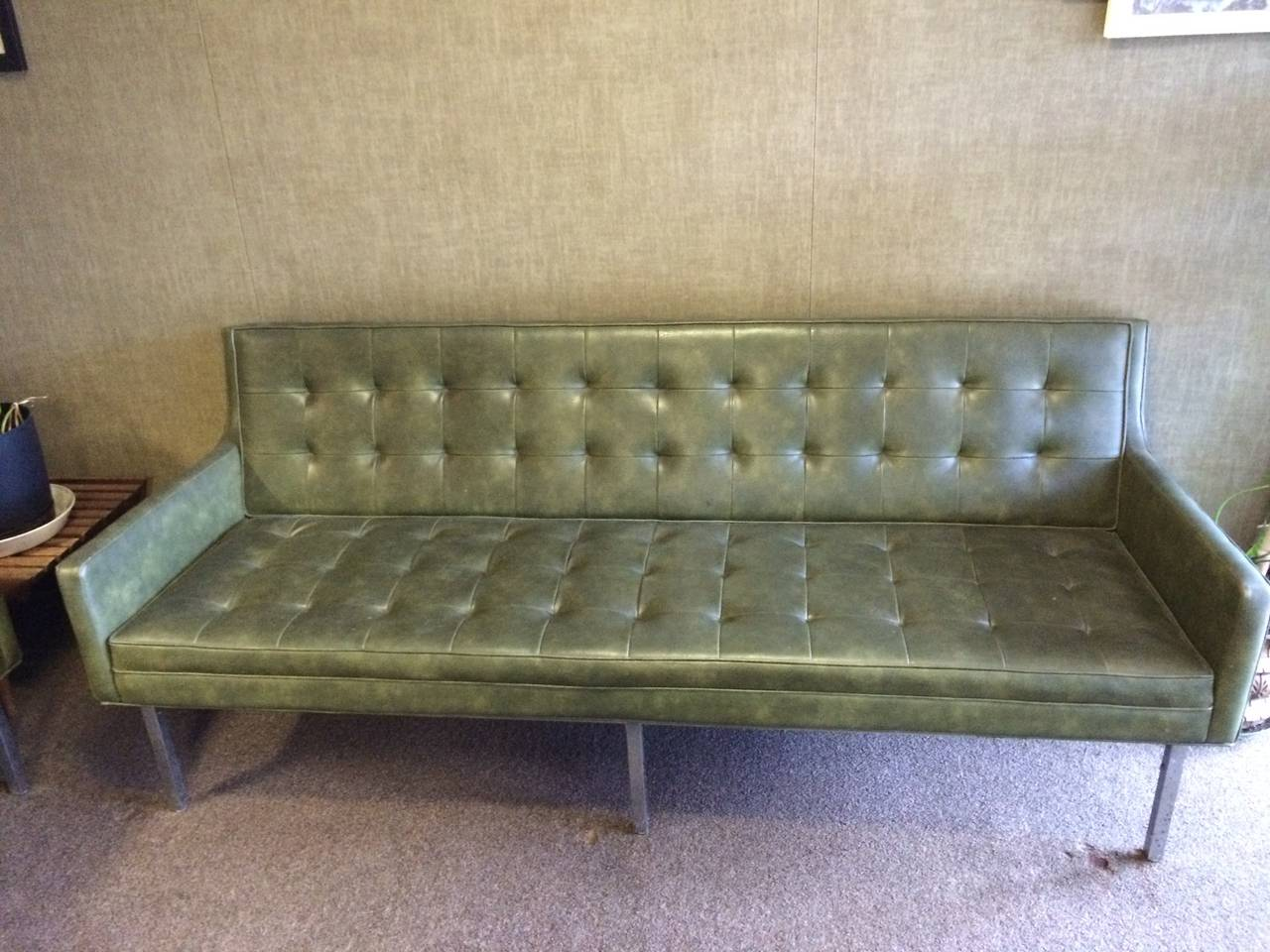 Mid Century Modern Tufted Sofa And Chair Set At 1stdibs