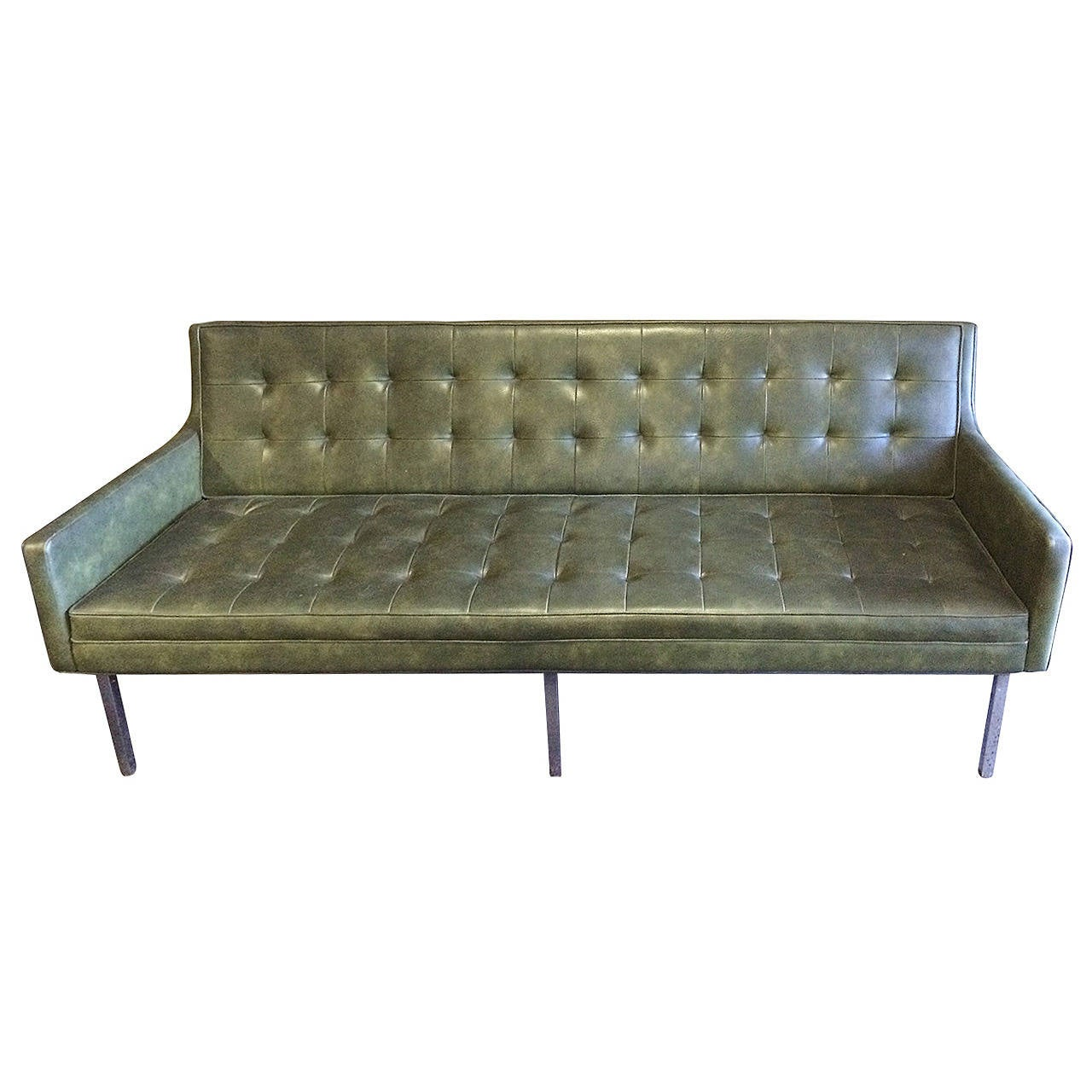 Mid century modern tufted sofa and chair set for sale at for Tufted couches for sale