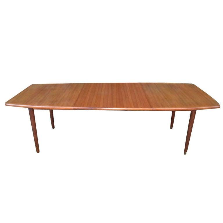 Danish Mid Century Modern Solid Teak Dining Table at 1stdibs : ORG7714002l from www.1stdibs.com size 768 x 768 jpeg 16kB