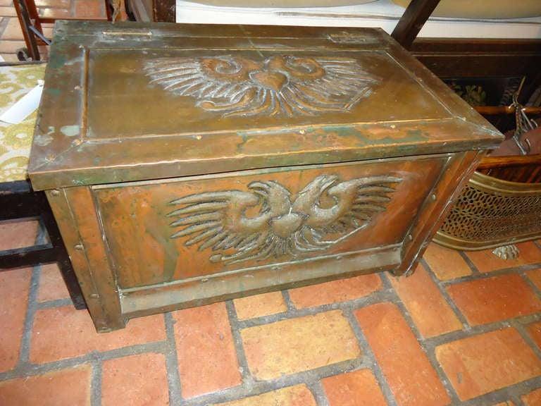 Decorative Kindling Box : Antique brass firewood box at stdibs
