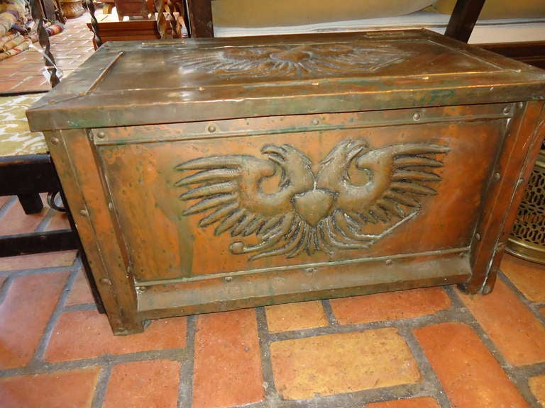 Decorative Kindling Box : Antique brass firewood box for sale at stdibs