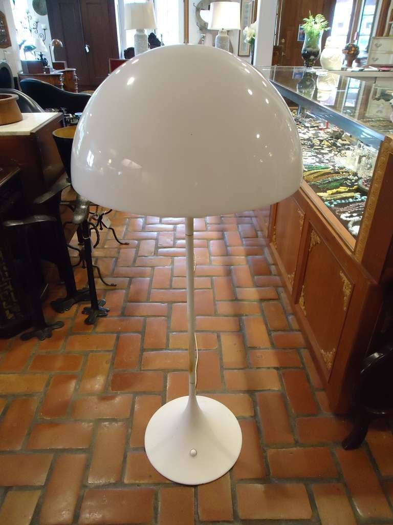 Verner Panton Panthella Floor Lamp by Louis Poulson at 1stdibs