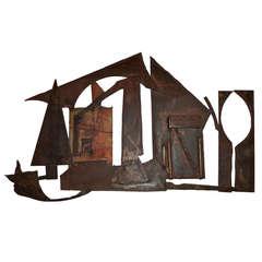 Brutalist Sculpture of a House