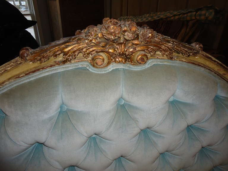 Antique Carved Wooden French Bed 3