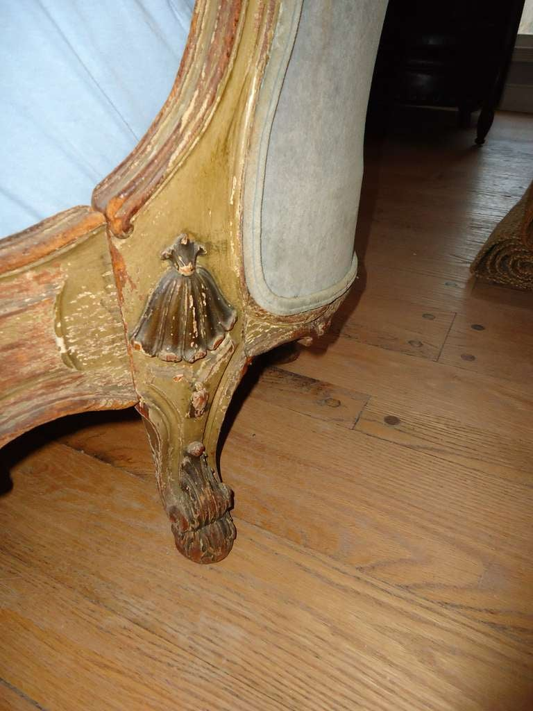 Antique Carved Wooden French Bed 8