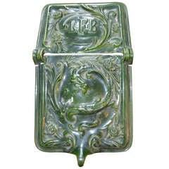 Early Porcelain/Enamel Coal Skuttle with Dragon