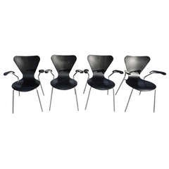 Set of Four Bentwood Lily Armchairs