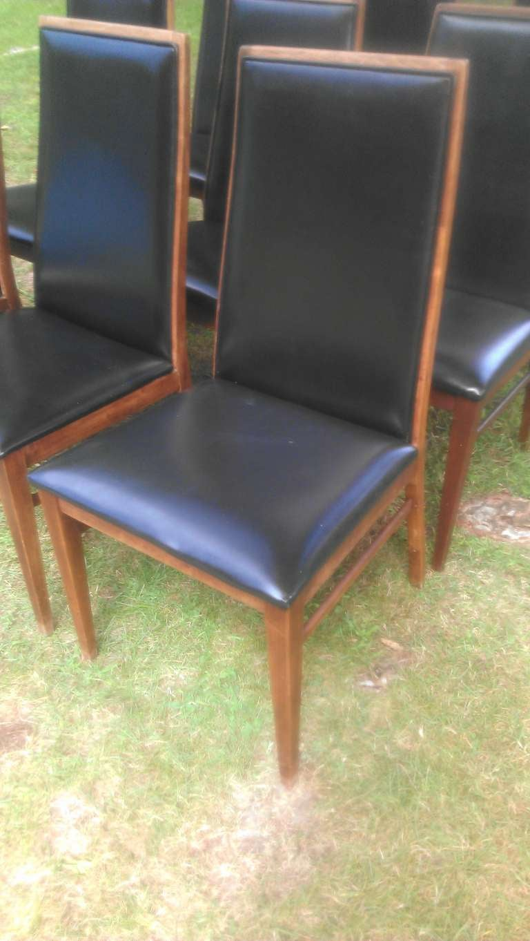 Set Of 9 Mid Century Modern Dining Chairs At 1stdibs