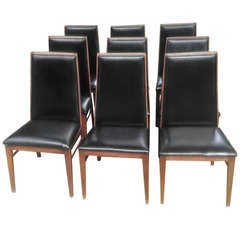 Set of 9 Mid Century Modern Dining Chairs