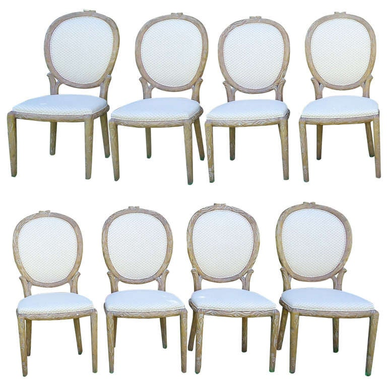French Style Dining Chairs For Sale Six Stunning Gilded French