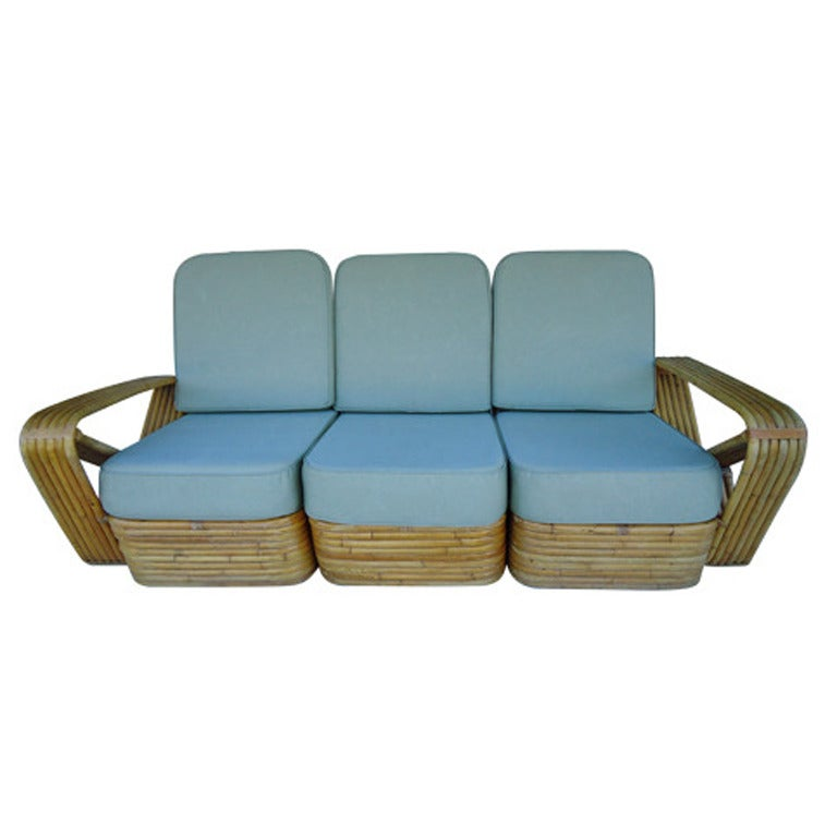 Paul Frankl Sofa ~ Paul frankl style bamboo sectional sofa at stdibs